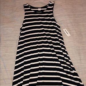 Old Navy size small black and white striped dress